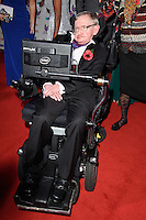 LONDON, UK. October 31, 2016: Professor Stephen Hawking at the Pride of Britain Awards 2016 at the Grosvenor House Hotel, London.<br /> Picture: Steve Vas/Featureflash/SilverHub 0208 004 5359/ 07711 972644 Editors@silverhubmedia.com