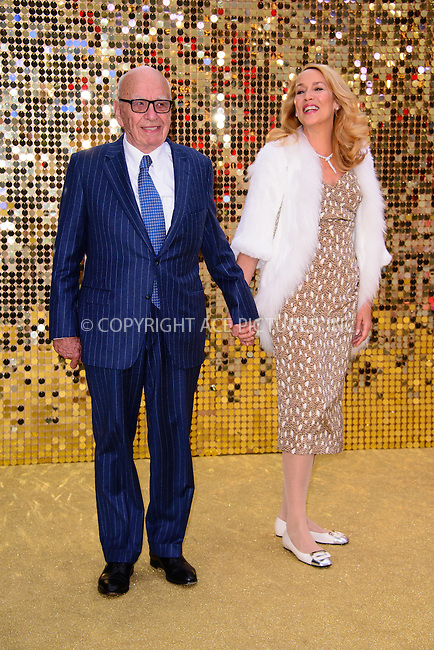 www.acepixs.com<br /> <br /> June 29 2016, London<br /> <br /> Rupert Murdoch and Jerry Hall arriving at the World Premiere of 'Absolutely Fabulous: The Movie' at the Odeon Leicester Square on June 29, 2016 in London, England<br /> <br /> By Line: Famous/ACE Pictures<br /> <br /> <br /> ACE Pictures Inc<br /> Tel: 6467670430<br /> Email: info@acepixs.com<br /> www.acepixs.com
