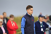Conor Gough (GB&I) on the 4th during the Foursomes at the Walker Cup, Royal Liverpool Golf CLub, Hoylake, Cheshire, England. 07/09/2019.<br /> Picture Thos Caffrey / Golffile.ie<br /> <br /> All photo usage must carry mandatory copyright credit (© Golffile | Thos Caffrey)