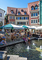 Germany, Bavaria, Upper Franconia, Bamberg: cafés and restaurant at Obstmarkt, a small square at old town, which is ranked UNESCO World Heritage Site | Deutschland, Bayern, Oberfranken, Bamberg: Restaurant in der Altstadt, die zum UNESCO Weltkulturerbe zaehlt