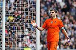 Real Madrid´s Iker Casillas during La Liga match at Santiago Bernabeu stadium in Madrid, Spain. February 14, 2015. (ALTERPHOTOS/Victor Blanco)