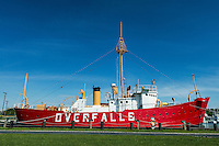 the Lightship Overfalls, Historic Lewes, Delaware, USA