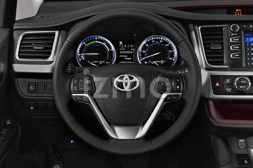Car pictures of steering wheel view of a 2019 Toyota Highlander XLE 5 Door SUV Steering Wheel