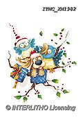 Marcello, CHRISTMAS ANIMALS, WEIHNACHTEN TIERE, NAVIDAD ANIMALES, paintings+++++,ITMCXM1982,#XA# ,owls