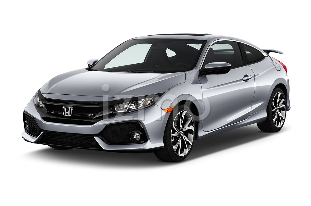 2018 Honda Civic Si 2 Door Coupe angular front stock photos of front three quarter view
