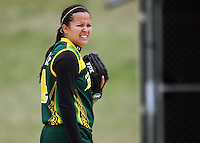 Hutt Valley pitcher Ali Manley during round two of the National Women's Softball Championships at Hataitai Park, Wellington, NewZealand on Sunday 2 February 2009. Photo: Dave Lintott / lintottphoto.co.nz