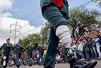 BOGOTÁ - COLOMBIA, 20-07-2018: Soldados herídos en combate durante el desfile Militar del 20 de Julio con motivo del 208 Aniversario de la Independencia de Colombia realizado por las calles de la ciudad de Bogotá. / Soldiers wounded in combat during July 20th Military Parade on the occasion of the 208th Anniversary Independence of Colombia that took place trough the streets of Bogota city. Photo: VizzorImage / Nicolas Aleman / Cont