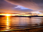 Sunrise at Lake Tahoe, California, The second deepest lake in the U.S.