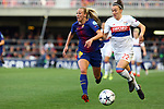 UEFA Women's Champions League 2017/2018.<br /> Quarter Finals.<br /> FC Barcelona vs Olympique Lyonnais: 0-1.<br /> Toni Duggan vs Lucia Bronze.