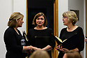 """Saffron Walden, UK. 08.10.2017. English Touring Opera, backstage, before performing Bach's """"Mass in B Minor"""", at Saffron Hall, Saffron Walden, Cambridgeshire. Photograph © Jane Hobson."""