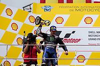 3rd November 2019; Sepang Circuit, Sepang Malaysia; MotoGP Malaysia, Race Day; winner Maverick Vinales on the podium - Editorial Use