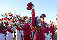 NWA Democrat-Gazette/BEN GOFF @NWABENGOFF<br /> The Razorback band and pom squad entertain tailgaters on Saturday Nov. 21, 2015 before the Arkansas football game against Mississippi State in Fayetteville.