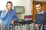 Iveragh Broadband launches new phone service, pictured here at the Ivertec offices in Dromid are l-r; Mike Murphy(Networks Engineer) & Padraig Foley(Marketing Executive).