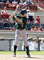 June 27, 2004:  Jeff Keppinger of the Altoona Curve, Double-A affiliate of the Pittsburgh Pirates, during a game at Jerry Uht Park in Erie, PA.  Photo by:  Mike Janes/Four Seam Images