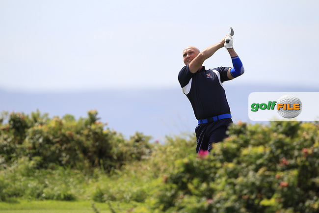 Johan Collins (Castlebar) during the final of the AIG Jimmy Bruen Shield Connacht Final, in Galway Bay Golf Club, Galway, Ireland. 12/08/2017<br /> Picture: Fran Caffrey / Golffile