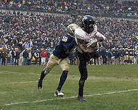 Cincinnati wide receiver Mardy Gilyard makes a two-point conversion catch to tie the game. The Cincinnati Bearcats defeated the Pittsburgh Panthers 45-44 in the final seconds of the River City Rivalry in a contest for the Big East Championship and a major bowl bid on December 5, 2009 at Heinz Field, Pittsburgh, Pennsylvania. .
