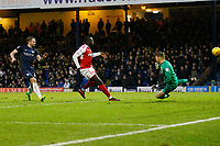 GOAL - New signing Toumani Diagouraga of Fleetwood Town scores the opener during the Sky Bet League 1 match between Southend United and Fleetwood Town at Roots Hall, Southend, England on 13 January 2018. Photo by Carlton Myrie.