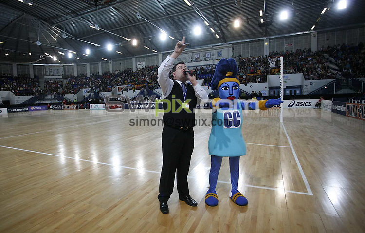 PICTURE BY Ben Duffy/SWPIX.COM - Netball - The Co-Operative International Series - England v Jamaica, Second Test - The Skydome arena, Coventry, England - 24/02/09...Copyright - Simon Wilkinson - 07811267706...Co-operative mascot Clara Cooper