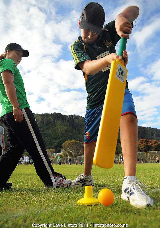 NCC cricket supercamp at Anderson Park, Wellington, New Zealand on Thursday, 13 January 2011. Photo: Dave Lintott / lintottphoto.co.nz
