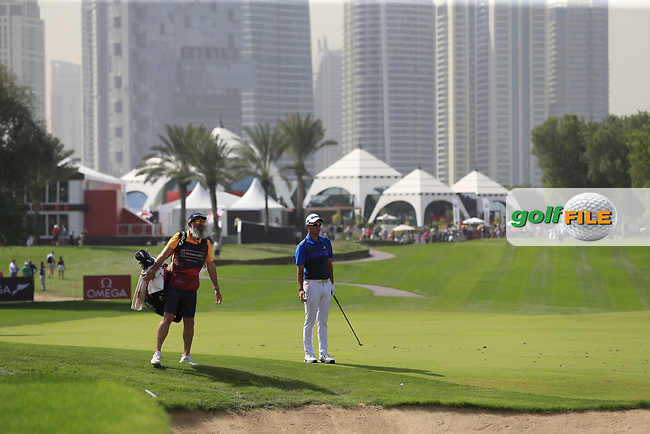 Lucas Herbert (AUS) on the 1st fairway during Round 4 of the Omega Dubai Desert Classic, Emirates Golf Club, Dubai,  United Arab Emirates. 27/01/2019<br /> Picture: Golffile | Thos Caffrey<br /> <br /> <br /> All photo usage must carry mandatory copyright credit (&copy; Golffile | Thos Caffrey)
