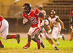 Inglewood, CA 10/09/14 - Christian Williams (Morningside #22) in action during the Palos Verdes Peninsula vs Morningside CIF Varsity football game at Coleman Field in Inglewood.  Peninsula defeated Morningside 24-13.