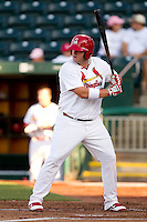 Matt Adams (25) of the Springfield Cardinals at bat during a game against the Midland RockHounds at Hammons Field on July 11, 2011 in Springfield, Missouri. (David Welker / Four Seam Images)