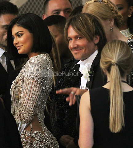 05 02 2016: Kylie Jenner,Keith Urban at Manus X Machina: Fashion In An Age of Technology at Metropolitan Museum of Art in New York. Credit:RWMediaPunch