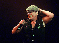 Brian Johnson of AC/DC performs at the Scottrade Center in St. Louis, Mo., on Tuesday, January 13, 2009.