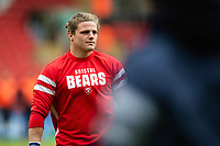 Harry Thacker of Bristol Bears looks on during the pre-match warm-up. Gallagher Premiership match, between Leicester Tigers and Bristol Bears on April 27, 2019 at Welford Road in Leicester, England. Photo by: Patrick Khachfe / JMP