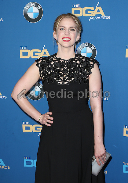 04 February 2017 - Beverly Hills, California - Anna Chlumsky. 69th Annual Directors Guild Of America Awards held at the Beverly Hilton Hotel. Photo Credit: F. Sadou/AdMedia