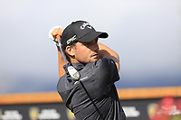 Haydn Porteous (RSA) tees off the 18th tee during Thursday's Round 1 of the 2017 Omega European Masters held at Golf Club Crans-Sur-Sierre, Crans Montana, Switzerland. 7th September 2017.<br /> Picture: Eoin Clarke | Golffile<br /> <br /> <br /> All photos usage must carry mandatory copyright credit (&copy; Golffile | Eoin Clarke)