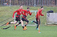 Marius Wolf (Eintracht Frankfurt), Danny Blum (Eintracht Frankfurt), Branimir Hrgota (Eintracht Frankfurt) - 04.04.2018: Eintracht Frankfurt Training, Commerzbank Arena