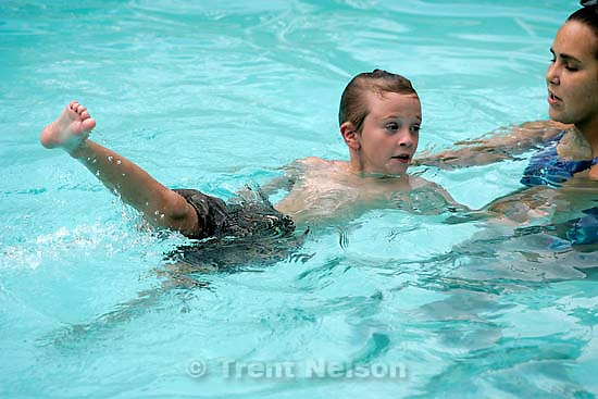 Nathaniel Nelson swim lessons. 8.16.2004<br />