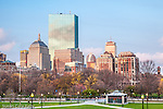 Back Bay skyline from Boston Common, Boston, MA