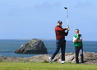 Dean McMahon (Castletroy) on the 4th tee during the Munster Final of the AIG Barton Shield at Tralee Golf Club, Tralee, Co Kerry. 12/08/2017<br /> Picture: Golffile | Thos Caffrey<br /> <br /> <br /> All photo usage must carry mandatory copyright credit     (&copy; Golffile | Thos Caffrey)