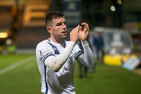 3rd March 2020; Dens Park, Dundee, Scotland; Scottish Championship Football, Dundee FC versus Alloa Athletic; Kevin O'Hara of Alloa Athletic applauds the fans at the end of the match