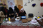 Palestinian women attend the cake industry course in Rafah in the southern of Gaza strip, on January 27, 2019. Photo by Ashraf Amra
