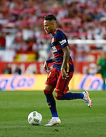 FC Barcelona´s  Brazilian forward Neymar Jr<br /> during the Final of Copa del Rey match between FC Barcelona and SevillaFC at the Vicente Calderon Stadium in Madrid, Sunday, May 22, 2016.