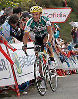 David De La Fuente during the stage of La Vuelta 2012 between La Robla and Lagos de Covadonga.September 2,2012. (ALTERPHOTOS/Acero) /NortePhoto.com<br /> <br /> **CREDITO*OBLIGATORIO** <br /> *No*Venta*A*Terceros*<br /> *No*Sale*So*third*<br /> *** No*Se*Permite*Hacer*Archivo**<br /> *No*Sale*So*third*