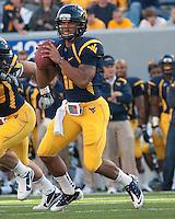 September 4, 2010: WVU quarterback Barry Brunetti. The West Virginia Mountaineers defeated the Coastal Carolina Chanticleers 31-0 on September 4, 2010 at Mountaineer Field, Morgantown, West Virginia.
