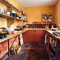 A traditional scullery is practical and reminiscent of the days when mod cons were unheard of.