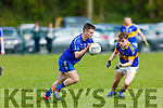 Renard's Conor O'Leary in possession as Cordals Gary O'Leary keeps an eye on him,  in the Junior Club Football Championship semi final in Beaufort on Sunday.