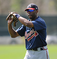 17 March 2009: C.J. Lee of the Atlanta Braves at Spring Training camp at Disney's Wide World of Sports in Lake Buena Vista, Fla. Photo by:  Tom Priddy/Four Seam Images