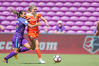 Orlando, FL - Saturday June 24, 2017: Marta, Morgan Brian during a regular season National Women's Soccer League (NWSL) match between the Orlando Pride and the Houston Dash at Orlando City Stadium.