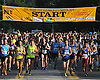 Northport's annual Cow Harbor 10-kilometer run gets underway as competitors break from the starting line on Saturday, September 19, 2015.<br /> <br /> James Escher