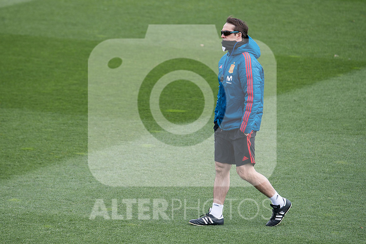 Coach Julen Lopetegui during Spain training session a few days before soccer match between Spain and Argentina in Madrid , Spain. March 24, 2018. (ALTERPHOTOS/Borja B.Hojas)