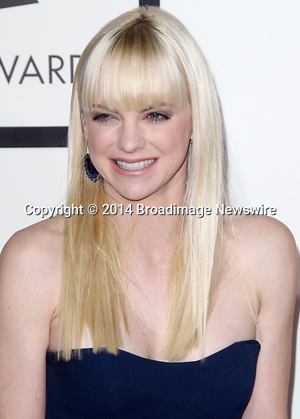 Pictured: Anna Faris<br /> Mandatory Credit &copy; Frederick Taylor/Broadimage<br /> 56th Annual Grammy Awards - Red Carpet<br /> <br /> 1/26/14, Los Angeles, California, United States of America<br /> <br /> Broadimage Newswire<br /> Los Angeles 1+  (310) 301-1027<br /> New York      1+  (646) 827-9134<br /> sales@broadimage.com<br /> http://www.broadimage.com