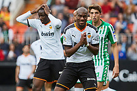 29th February 2020; Mestalla, Valencia, Spain; La Liga Football,Valencia versus Real Betis; Geoffrey Kondogbia of Valencia CF and Mouctar Diakhaby of Valencia CF react