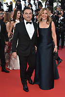 Renault CEO Carlos Ghosn (L) and his wife Carole Ghosn <br /> CANNES, FRANCE - MAY 11: ''Ash Is The Purest White' (Jiang Hu Er Nv)'during the 71st annual Cannes Film Festival at Palais des Festivals on May 11, 2018 in Cannes, France. <br /> CAP/PL<br /> &copy;Phil Loftus/Capital Pictures