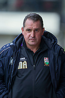 Barnet manager Martin Allen ahead of the Sky Bet League 2 match between Newport County and Barnet at Rodney Parade, Newport, Wales on 3 September 2016. Photo by Mark  Hawkins / PRiME Media Images.